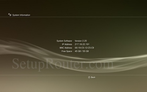 PS3 IP Address
