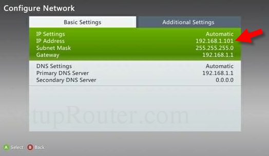 static ip address for xbox 360 rh setuprouter com