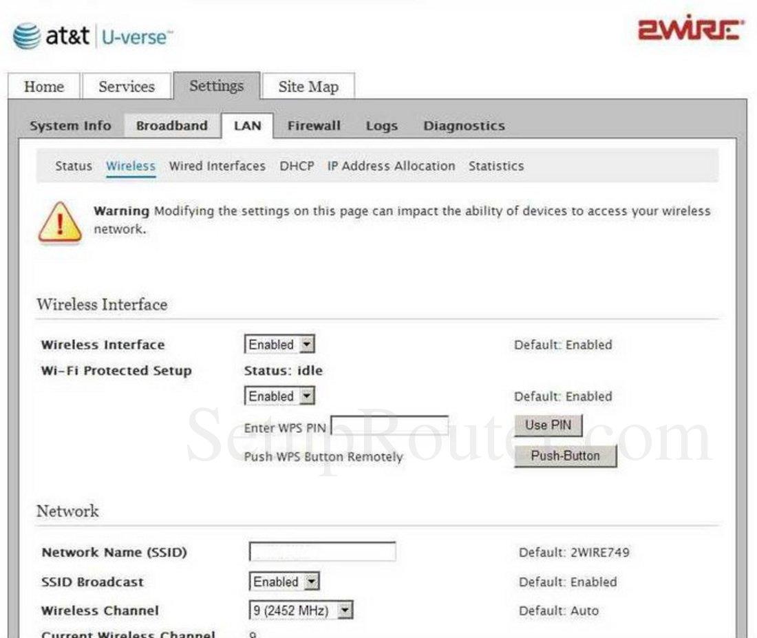 2wire 3800hgv b screenshot wireless rh setuprouter com Gateway 2Wire 3800HGV-B Manual 2Wire 3800HGV-B Firmware