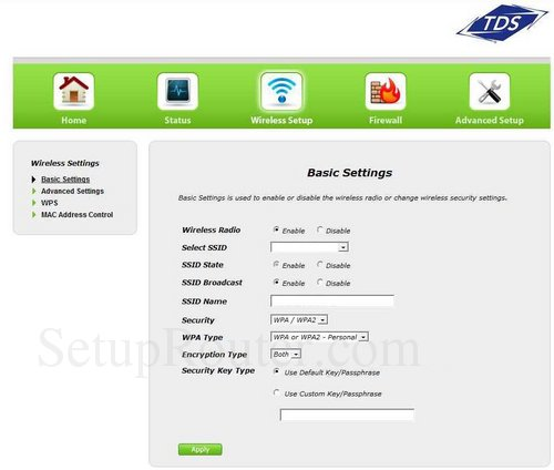 Setup WiFi on the Actiontec GT784WN TDS