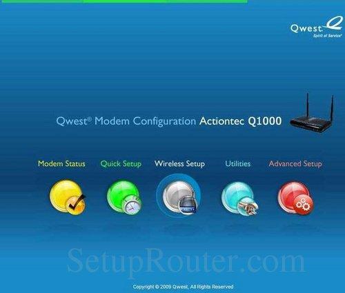 Actiontec q1000 firmware update.