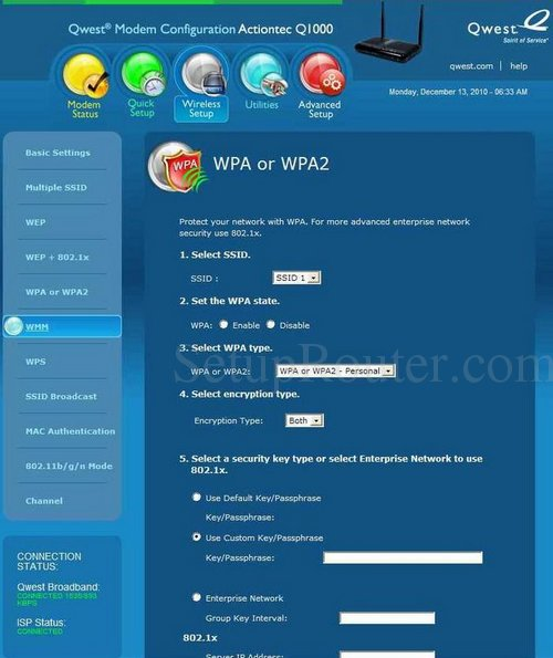 how to change wep to wpa2