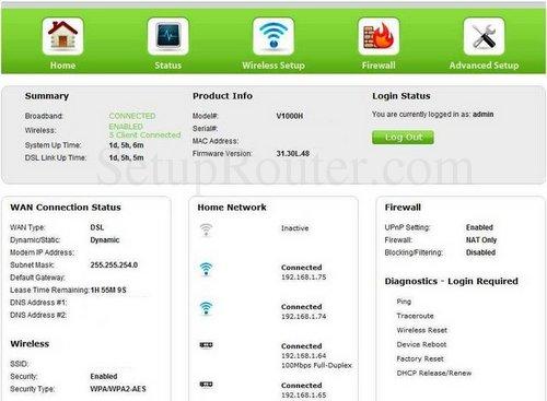 Setup wifi on the actiontec v1000h v31. 30l. 33.