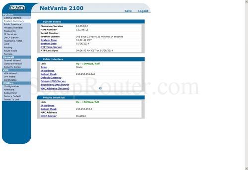 How to change the DNS settings on the Adtran NetVanta 2100