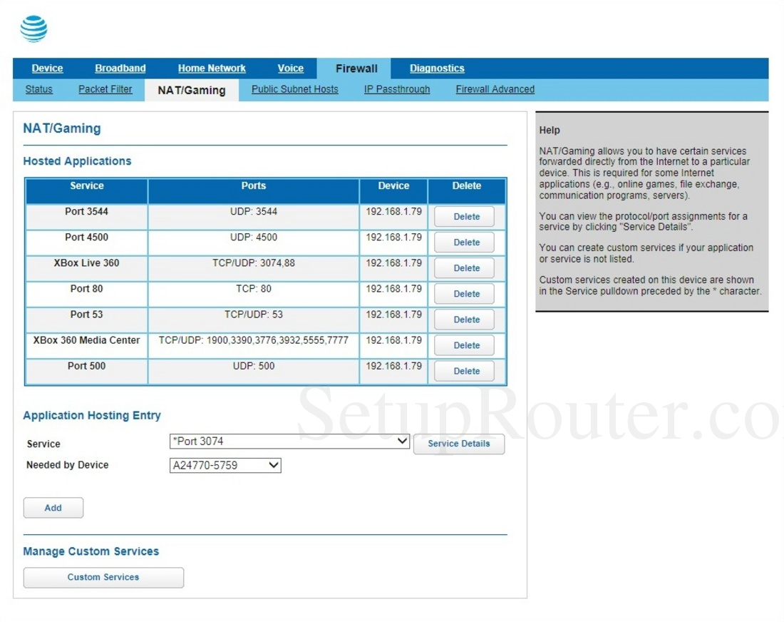 Arris BGW210-700 ATT Screenshot NATGaming