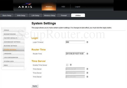 how to connect to arris router