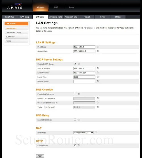 How To Change The Dns Settings On The Arris Tg1672g Manual Guide