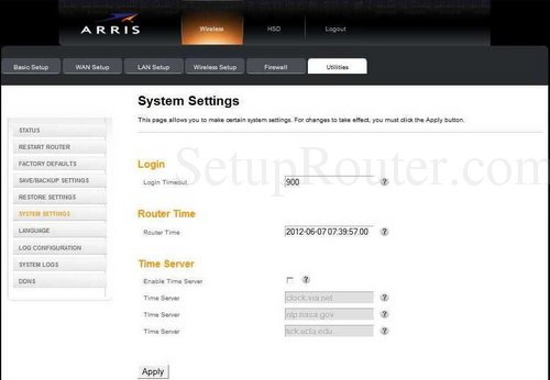 How to change the DNS settings on the Arris TG852
