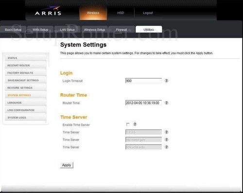 Arris TG852G Screenshots