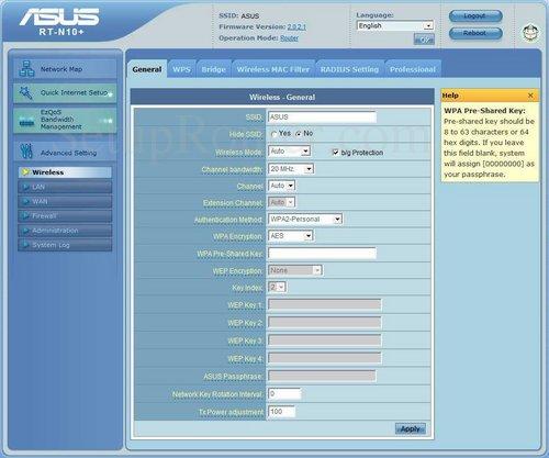 Setup WiFi on the Asus RT-N10