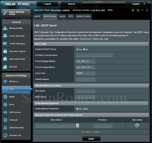 How To Change The DNS Settings On The Asus RT-N66U