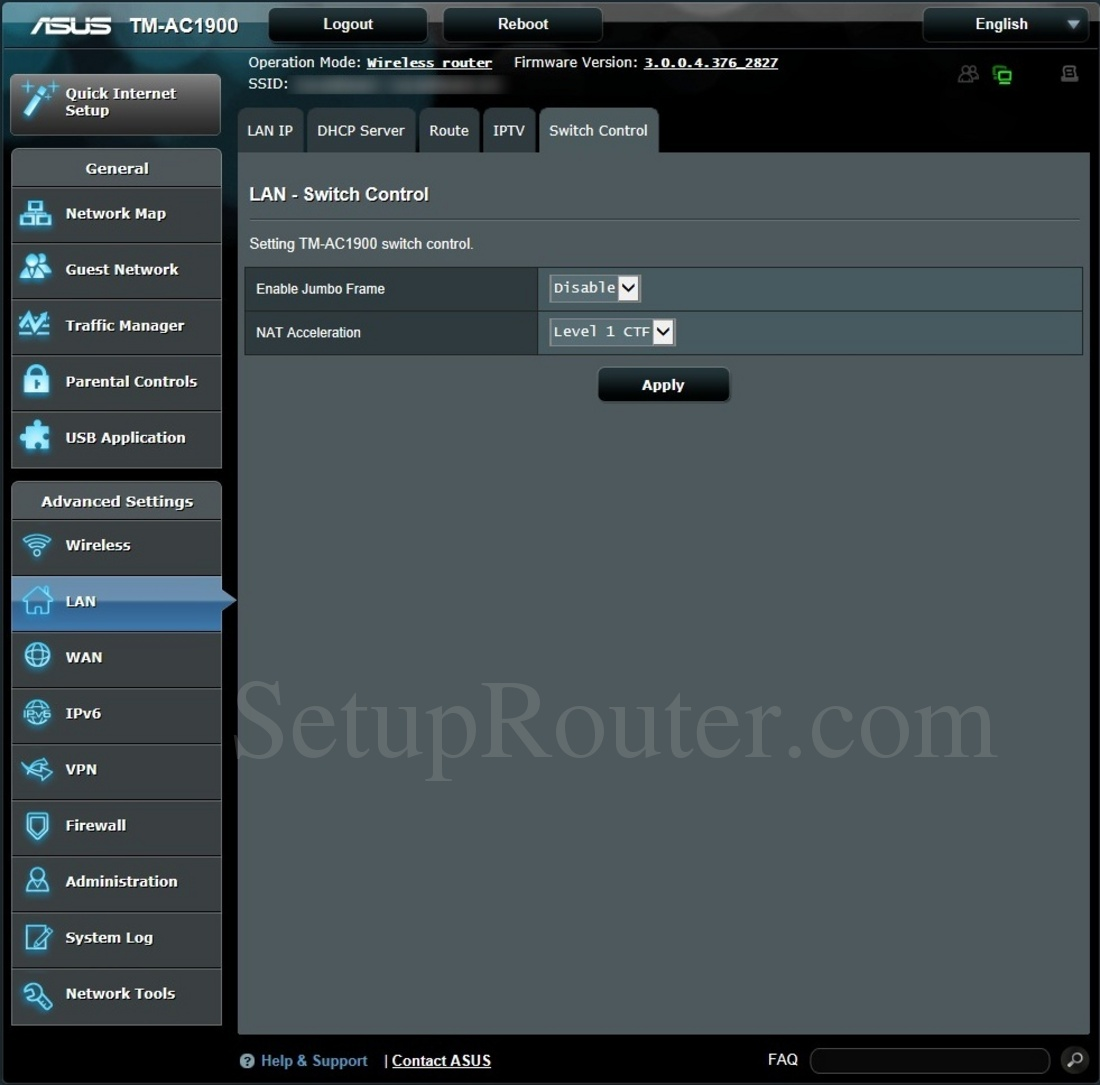 Asus TM-AC1900 Screenshot SwitchControl