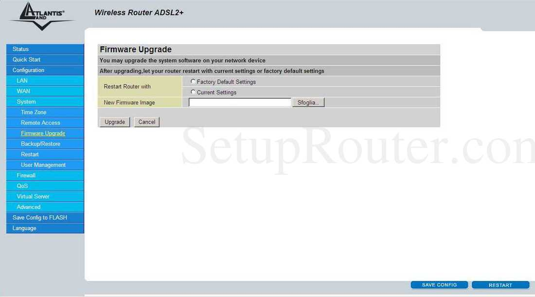 Atlantis-Land A02-RA243-W54M Screenshot System - Firmware
