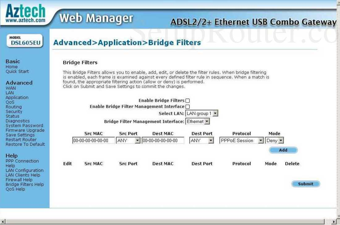 ADSL2/2 Combo Modem / Router