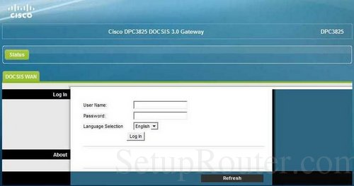 How to Login to the Cisco DPC3825
