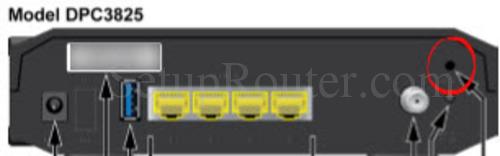 Cisco DPC3825 Reset