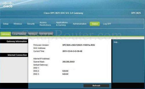 how to login to the cisco dpc3825 rh setuprouter com Cisco DPC3000 Cisco DPC3825 Speed