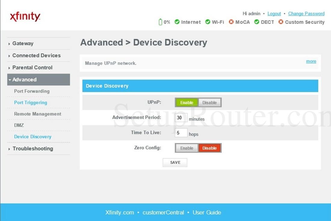 Cisco Dpc3939 Xfinity Screenshot Devicediscovery