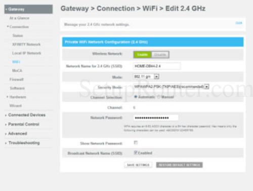 Xfinity Wifi Login >> Setup WiFi on the Cisco DPC3939 XFINITY
