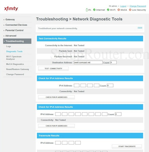 how to find wep key on xfinity router