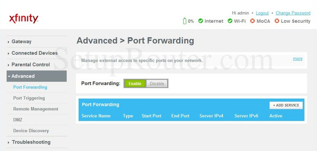 How To Enable Port Forwarding On Xfinity Router ••▷ SFB