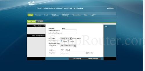 Cisco Router Setup >> How to Login to the Cisco EPC3928S