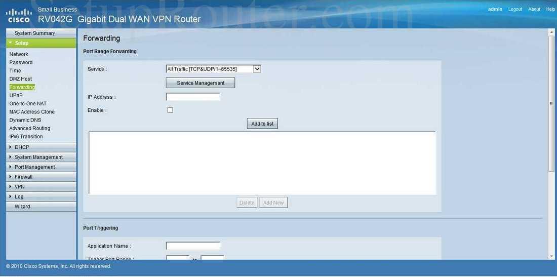 Large Cisco RV042G Title