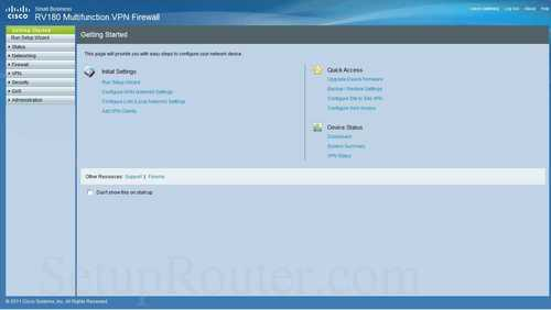 How to Login to the Cisco RV180
