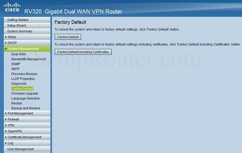 Cisco RV320 Screenshots