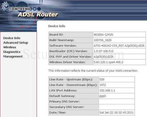 fairpoint router default login