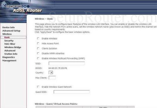 Router Comtrend AR-5319 Wireless ADSL2