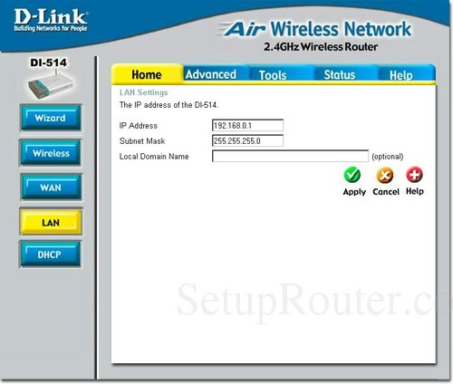 how to change ip address on dlink router