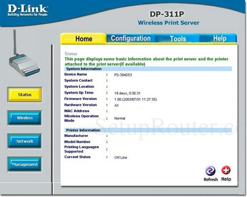 Fast ethernet print server (dp-301p+) | d-link.