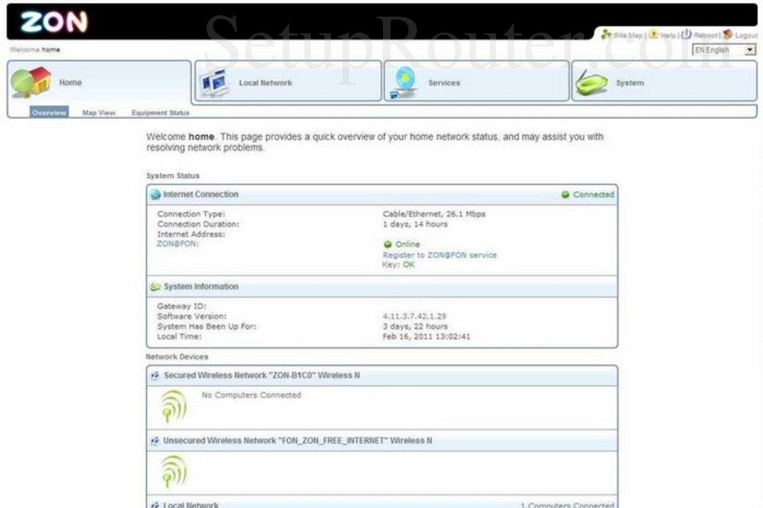 Hitron-Technologies BVW-3653 Screenshot Home Overview