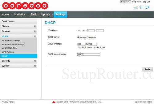 Huawei changing ip address router 192 168 2 1