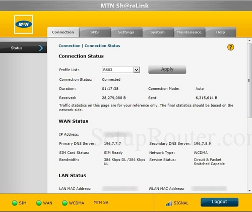 How to Login to the Huawei B683 MTN