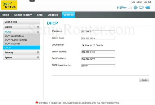 How to change the ip address of the Huawei E5331