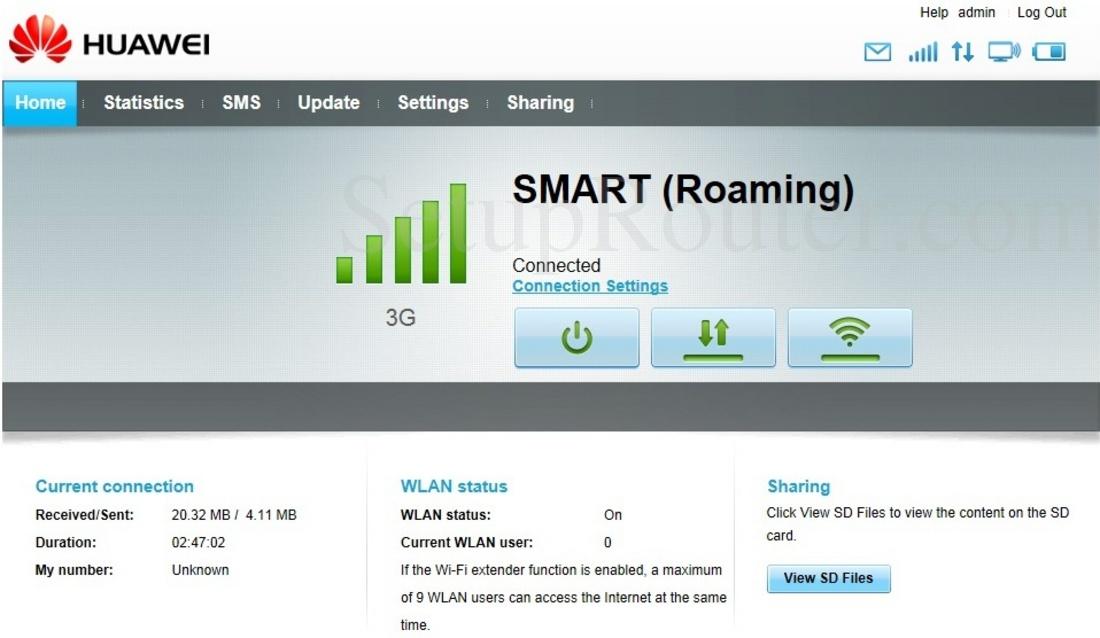 How to Setup HUAWEI E5332E5332s2 3G Mobile WiFi