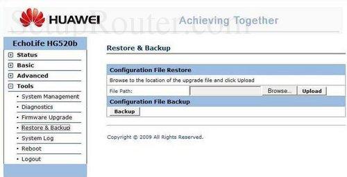 Huawei Echolife-HG520b Screenshots
