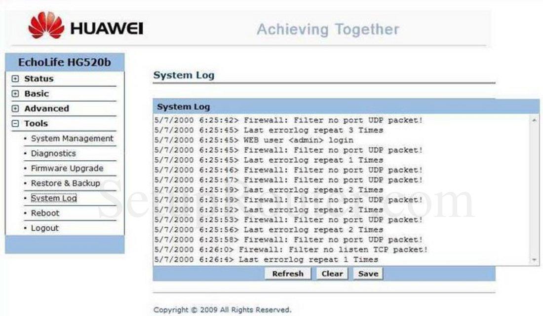 Firmware router huawei echolife hg520b | TalkTalk