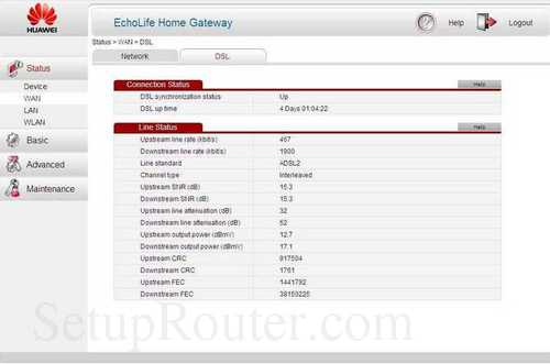 How to change the DNS settings on the Huawei EchoLife-HG521