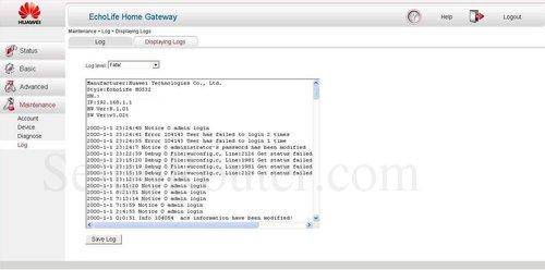 Huawei Echolife Hg532 router Firmware