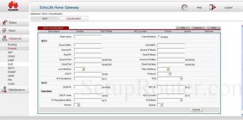 Qos huawei hg532 router