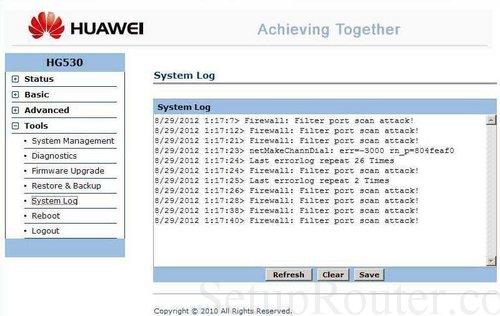 Huawei HG530 Screenshots