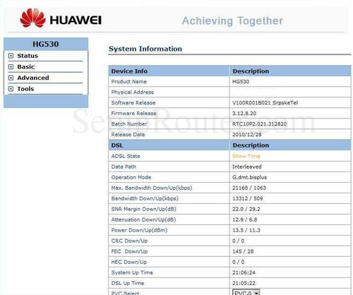 Setup WiFi on the Huawei HG530