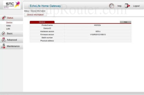 How to Login to the Huawei HG532b