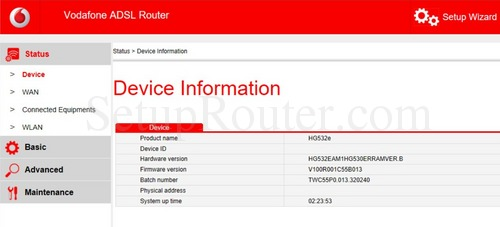 How to Login to the Huawei HG532e Vodafone
