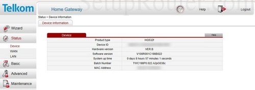 How to Login to the Huawei HG532f