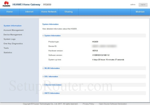 How to Login to the Huawei HG659