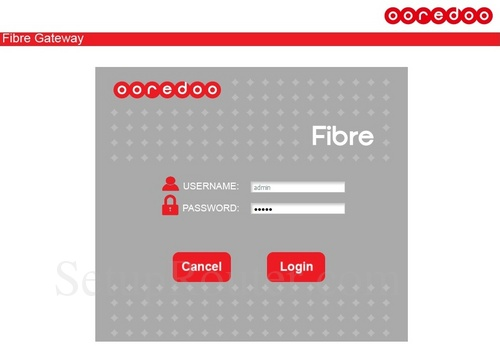How to Login to the Huawei HG8244H Ooredoo